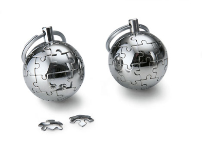 Picture of Puzzle Globe Keychain